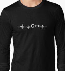 C++ Heart Beat Premium Shirt for cpp developers T-Shirt