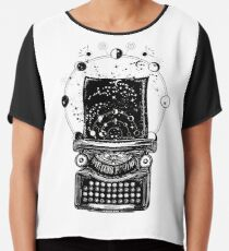 Typewriter. Symbol of imagination, literature Chiffon Top