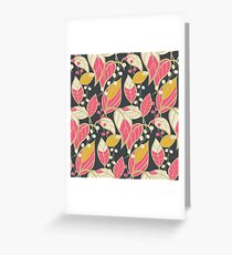 Seamless floral pattern with hand drawn leaves Greeting Card