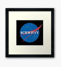 Schwifty Nasa Mashup Framed Print