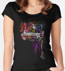 paradise corrupt_ Women's Fitted Scoop T-Shirt