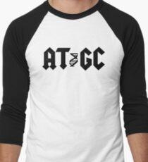 AT GC Funny DNA Molecular Biology Men's Baseball ¾ T-Shirt