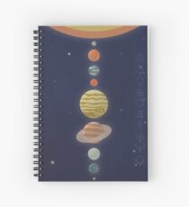 Luminaries - Retro Planets Poster Spiral Notebook