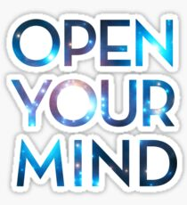 OPEN YOUR MIND, Galaxy, Space, Universe, Star Sticker