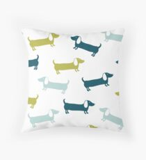 Lovely dachshunds in great colors Throw Pillow