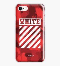 Off-White Bape Camo Red iPhone Case/Skin