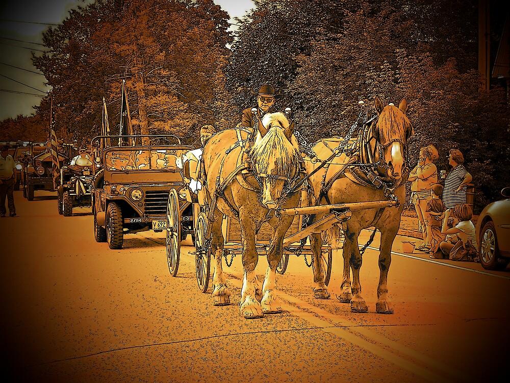 Horse Drawn Carriage by Gene Cyr