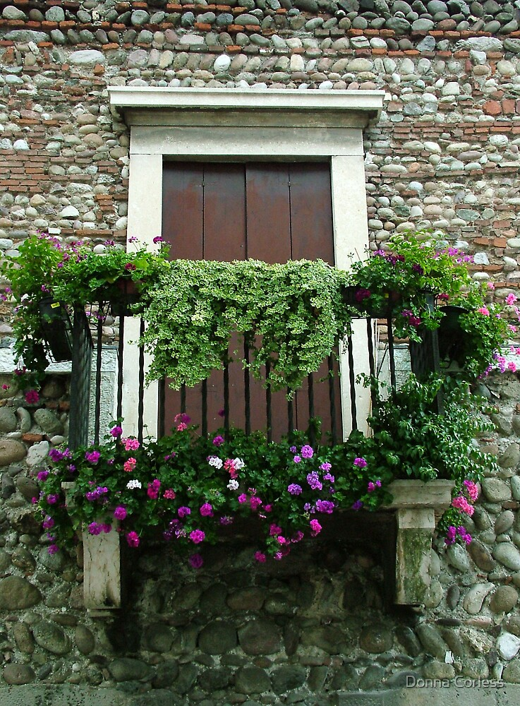 Balcony on Pebbled Wall by Donna Corless