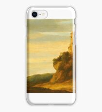 Pieter de Molijn (London ), A Hilly Landscape with Wanderers at the Foot of a Castle Ruin iPhone Case/Skin