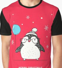Penguin with balloon Graphic T-Shirt