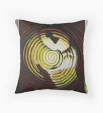 keyhole in head Throw Pillow