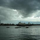 Boats of All Sizes. Portsmouth Harbour. UK by Kay Cunningham