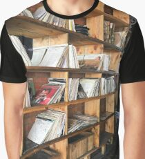 Bookshelf Albums Graphic T-Shirt