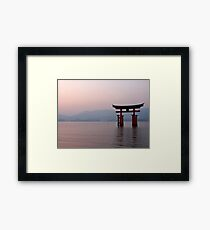 Sunrise at Miyajima Framed Print