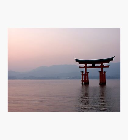 Sunrise at Miyajima Photographic Print