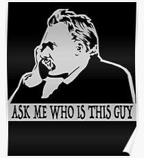 Nietzsche stencil Poster