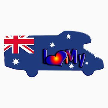 Motorhome Tshirt Australia by JotaEme