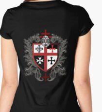 Templar Shield Cross Symbol Medieval T-Shirt  Women's Fitted Scoop T-Shirt