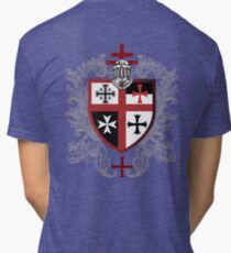 Templar Shield Cross Symbol Medieval T-Shirt  Tri-blend T-Shirt
