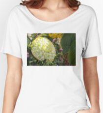 Extravagant Jeweled Dishes - Carved Melon Flower With Green Pearls Women's Relaxed Fit T-Shirt