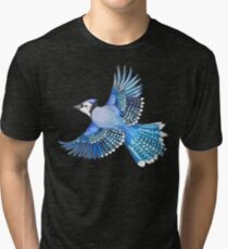 Blue jay soaring - Animal series Tri-blend T-Shirt