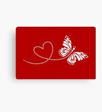 Butterfly, Heart, Forever Love, Valentine´s Day Canvas Print