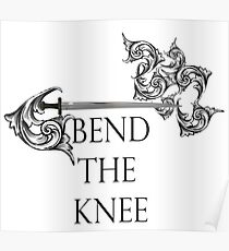 Bend the Knee Team Game Shirt Poster