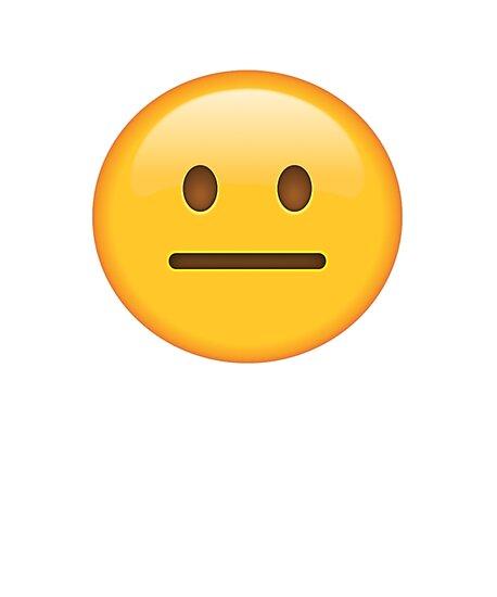 quotneutral face emojiquot photographic prints by printpress