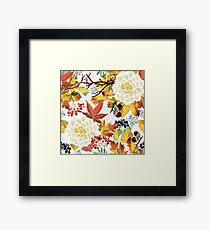 Autumn Flowers Pattern 3 Framed Print