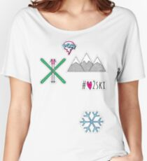 #love2ski  Women's Relaxed Fit T-Shirt