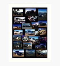 J.G Auto Image Collage Art Print