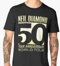 50 Year Anniversary Tour Diamond Neil Men's Premium T-Shirt