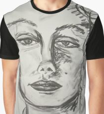 Marilyn Monroe portrait in charcoal Graphic T-Shirt