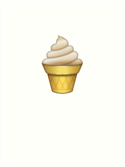Cool Ice Cream Emoji Art Prints By Printpress Redbubble