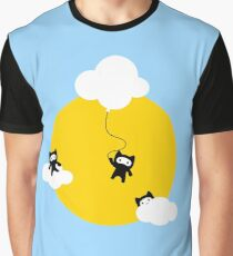 Ninja cats in the sky Graphic T-Shirt