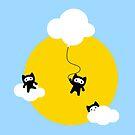 «Gatos ninja en el cielo» de EuGeniaArt