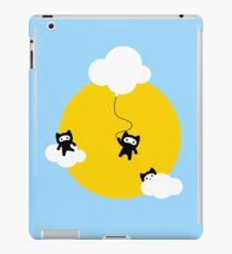 Ninja cats in the sky iPad Case/Skin