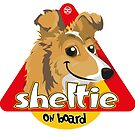 Sheltie On Board by DoggyGraphics