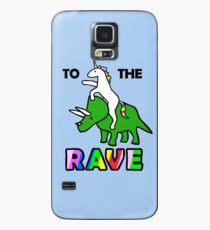 Funda/vinilo para Samsung Galaxy Para el delirio (Unicornio montando Triceratops)