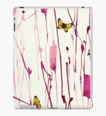 Hand painted abstract stem with realistic butterfly by Yuki24 iPad Case/Skin