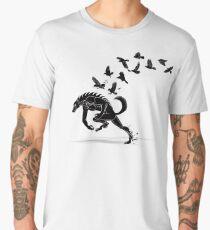 Werewolf Running from Ravens Men's Premium T-Shirt
