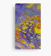Floating Yellow bubbles Canvas Print