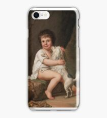 Adolf Ulrik Wertmüller  Portrait of the young Henri Bertholet-Campan () with the dog Aline iPhone Case/Skin