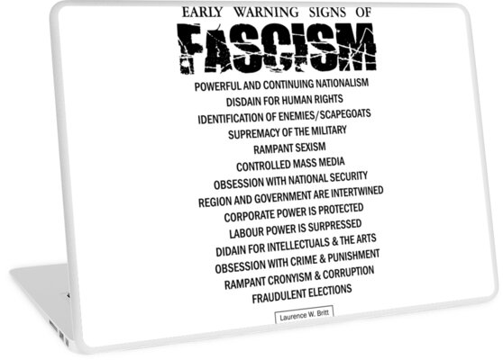 Early Signs Of Fascism >> Early Warning Signs Of Fascism Laptop Skins By Creamy Hamilton