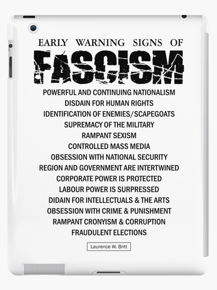 Early Signs Of Fascism >> Early Warning Signs Of Fascism Ipad Cases Skins By Creamy