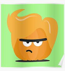 Angry Pumpkin Guy Funny Rgh8x Poster