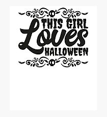 This Girl Loves Halloween Funny Lazy Costume Ironic  Photographic Print