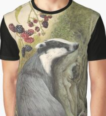 Autumn badger Graphic T-Shirt