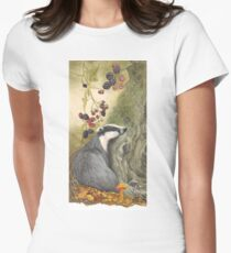 Autumn badger Women's Fitted T-Shirt