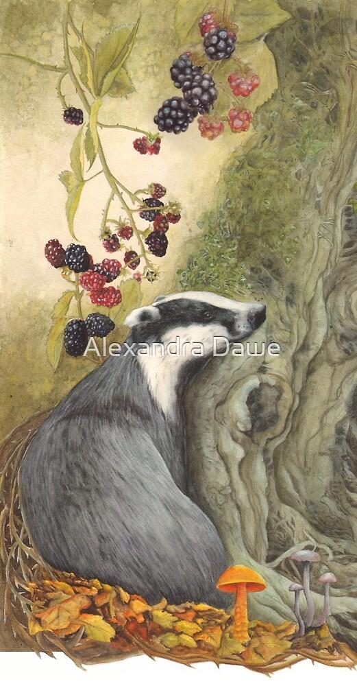 Autumn badger by alexandradawe